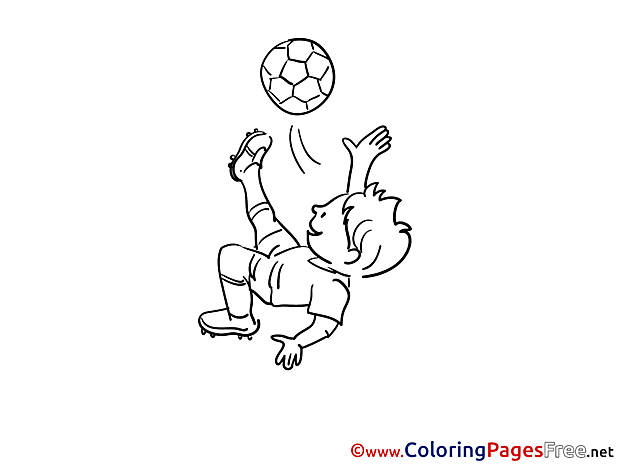 Kick Boy free Soccer Coloring Sheets
