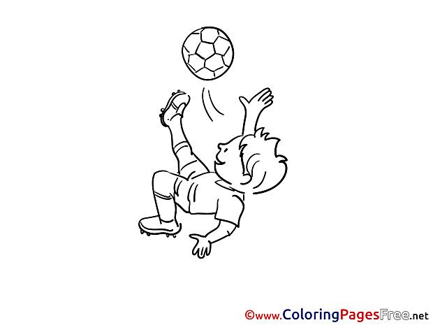 Kick Boy free Soccer Coloring Sheets