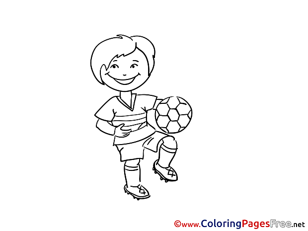 Kid Soccer Coloring Pages download