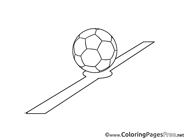 Line Ball printable Coloring Pages Soccer