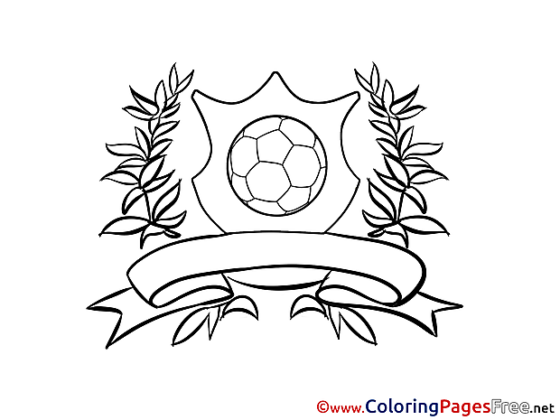 Logo Ball free Soccer Coloring Sheets