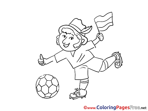 Man Soccer Colouring Sheet free