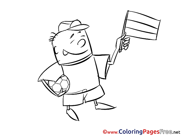 Man Supporter Soccer Coloring Pages free