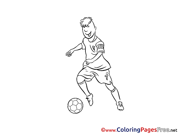 Midfielder Player Kids Soccer Coloring Page