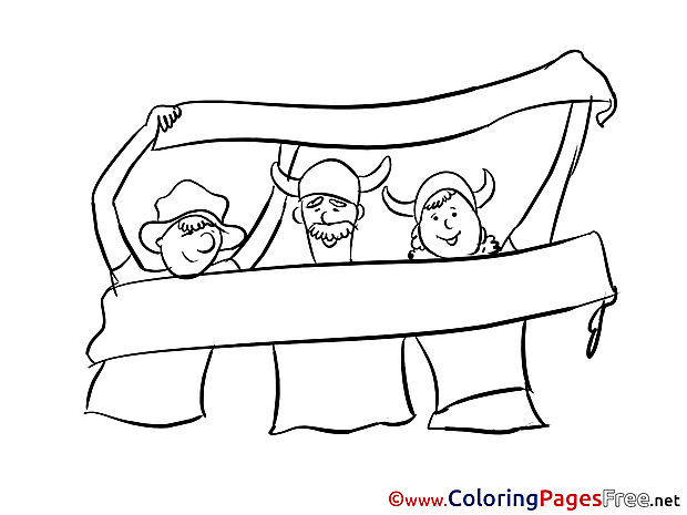 National Team Albania Fans free Colouring Page Soccer