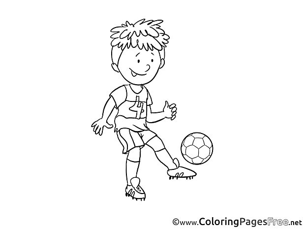 Number 4 Player printable Coloring Pages Soccer