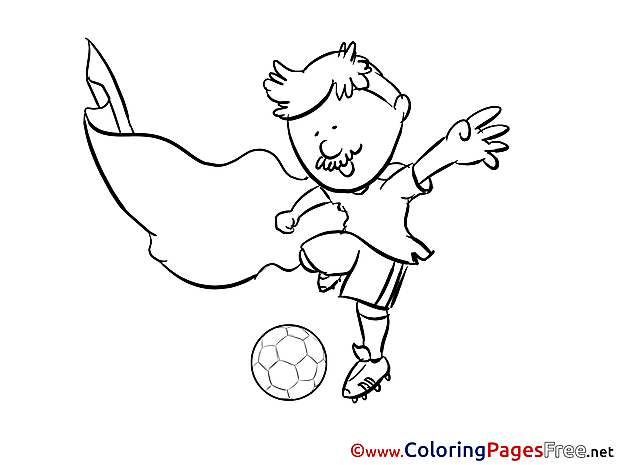Old Man Player Colouring Sheet download Soccer