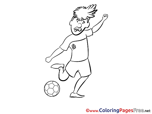 Old Man Player download Soccer Coloring Pages