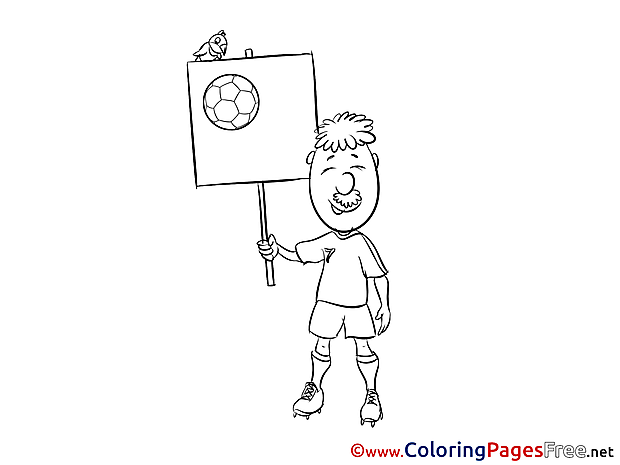 Old Man Player Kids Soccer Coloring Page