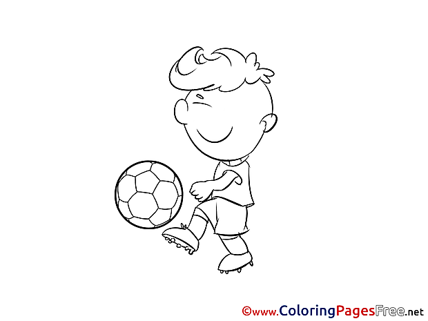 Pass Football Player Soccer free Coloring Pages