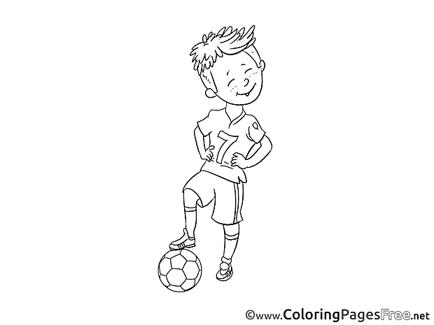 Player Soccer Coloring Pages free