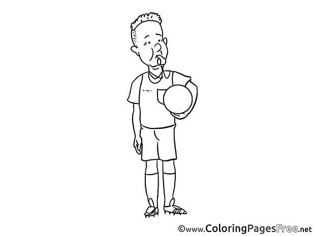 Referee download Soccer Coloring Pages