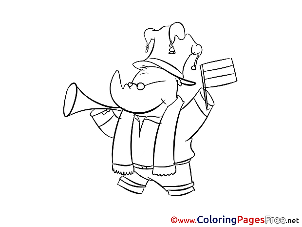 Rhino Coloring Sheets Fan Soccer free