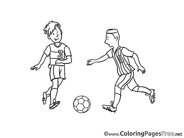 Rivals Coloring Sheets Soccer free