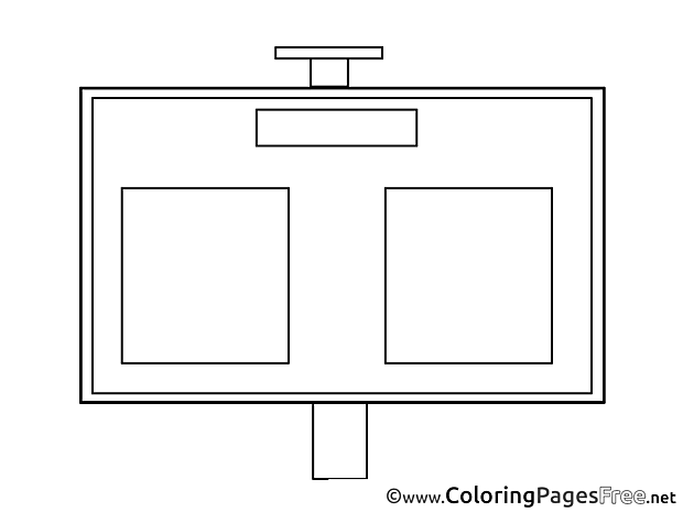 Scoreboard Coloring Pages Soccer for free