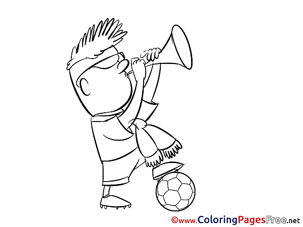 Sport Fan free Soccer Coloring Sheets