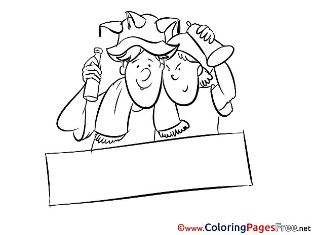Sport Fans printable - Coloring Pages Soccer