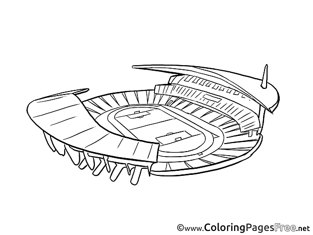 Stadium Soccer free Coloring Pages