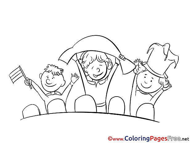 Supporters Coloring Pages Soccer for free