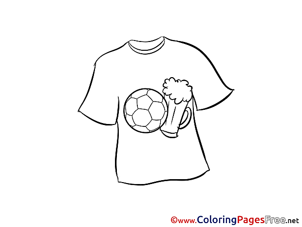 T-Shirt Soccer free Coloring Pages