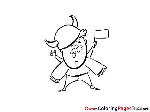 Team Fan Colouring Page Soccer free