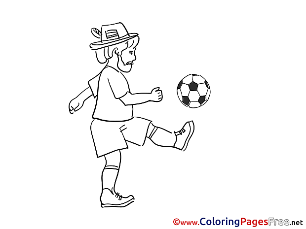 Trick Kids Soccer Coloring Page