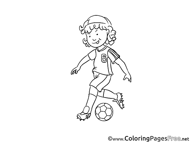 Tricks Boy Children Soccer Colouring Page