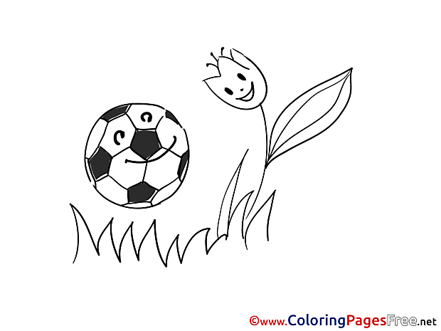 Tulip Ball printable Coloring Pages Soccer
