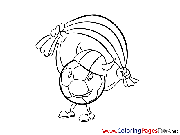 Viking Ball Fan Colouring Sheet download Soccer