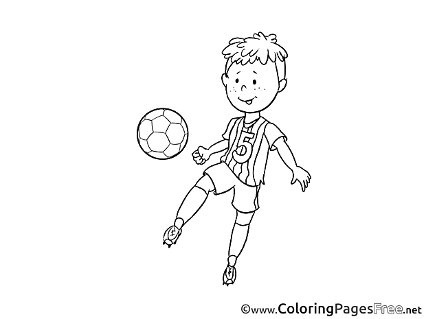 Young Player Ball Colouring Sheet download Soccer