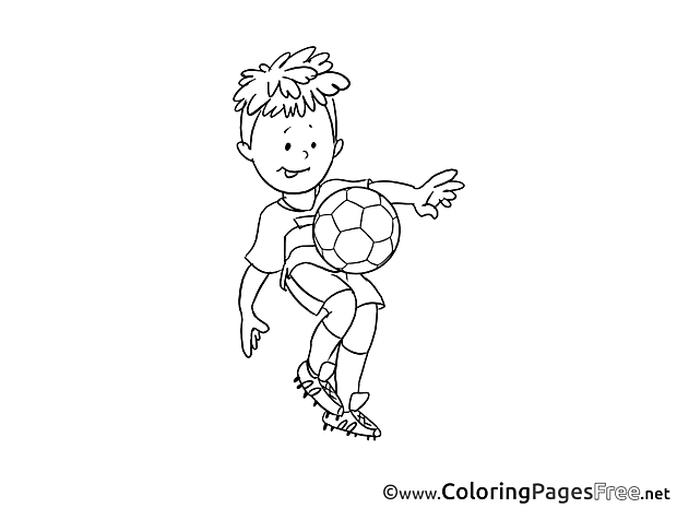 Young Player Kids Soccer Coloring Page
