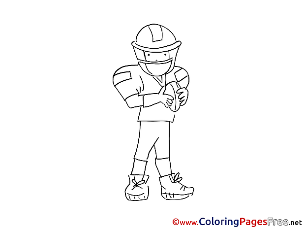 American Football download printable Coloring Pages