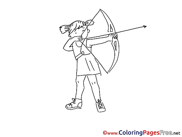 Archery free Colouring Page download