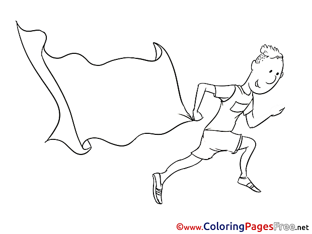 Athlete download Colouring Sheet free