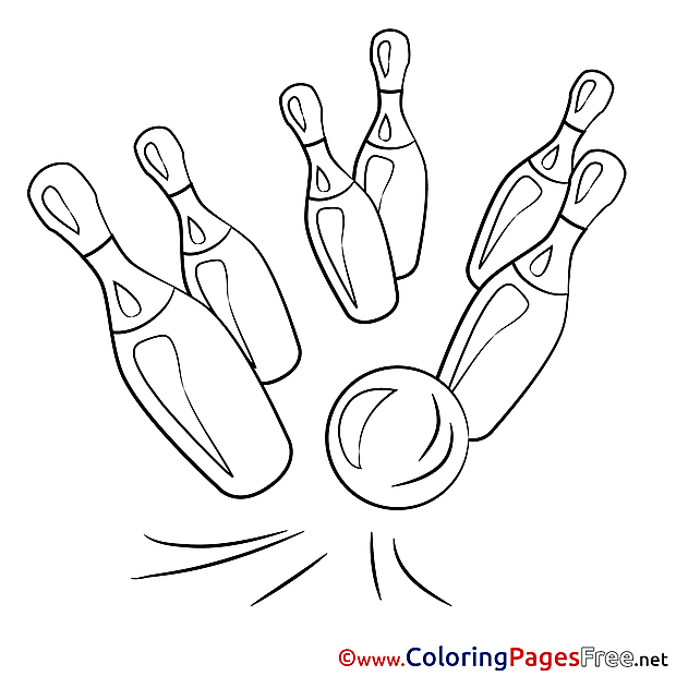 Bowling Coloring Pages for free
