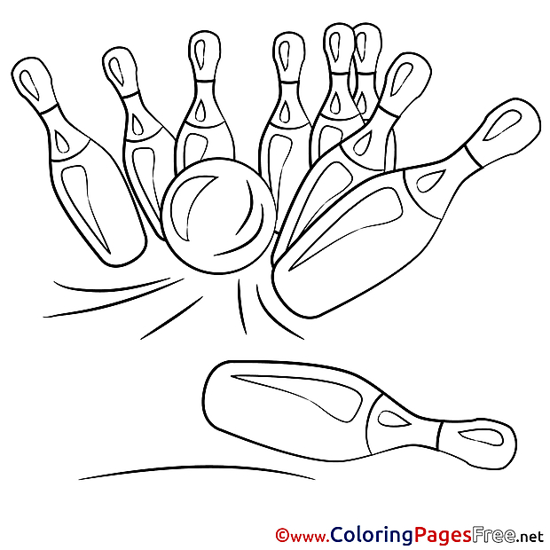 Bowling printable Coloring Sheets download
