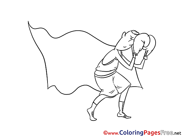 Boxing for Children free Coloring Pages