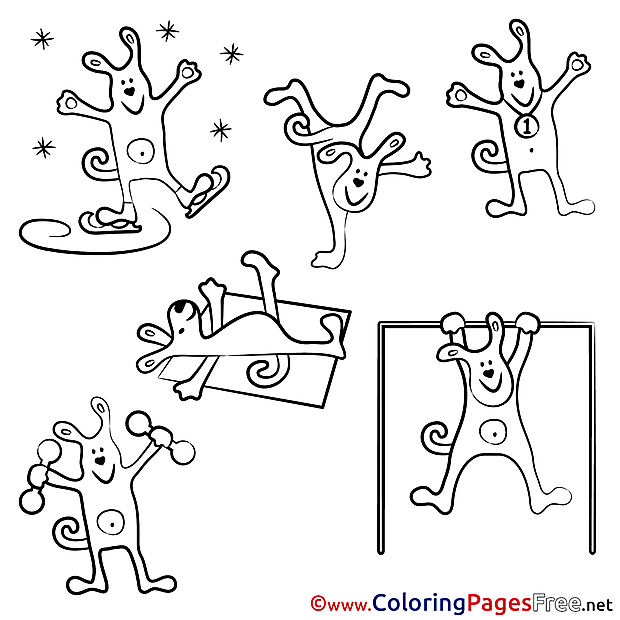 Dog Sport free printable Coloring Sheets