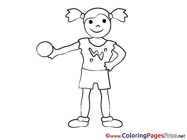Download Colouring Sheet Girl Ball free
