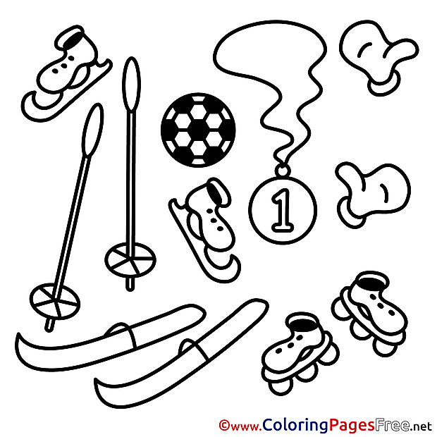 Equipment Coloring Sheets download free