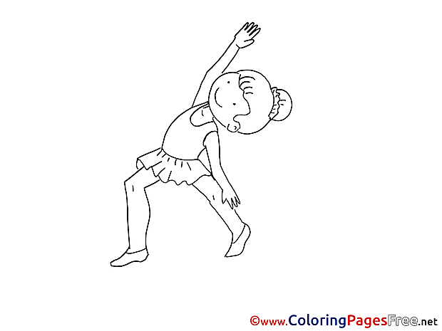 Exercises Kids download Coloring Pages
