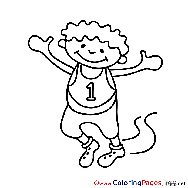First Place Colouring Sheet download free