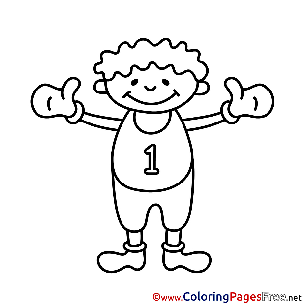 First Place free Colouring Page download