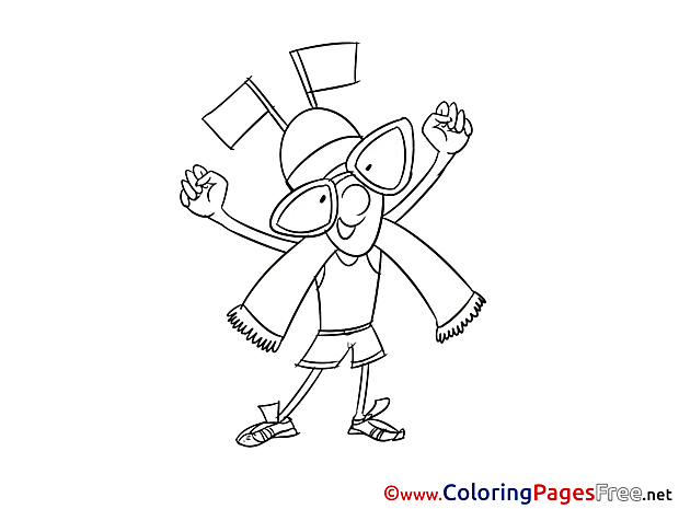Flags Winner Coloring Pages for free