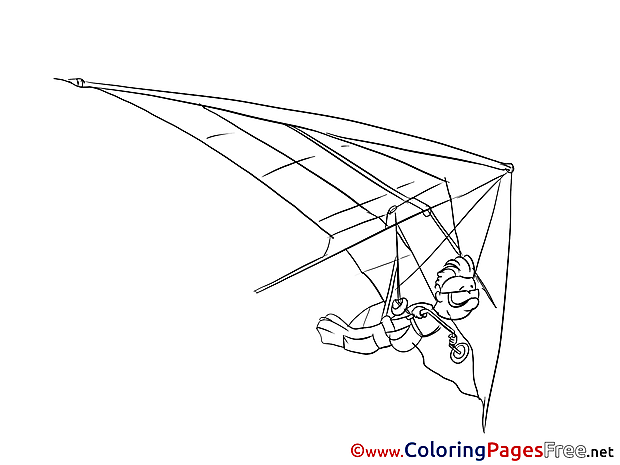 Glider Coloring Pages for free