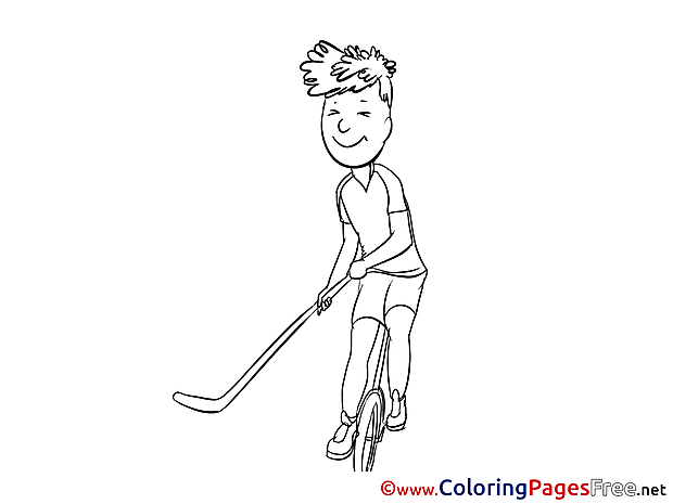 Golf Kids free Coloring Page