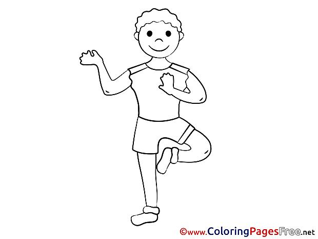 Gymnastics Colouring Sheet download free
