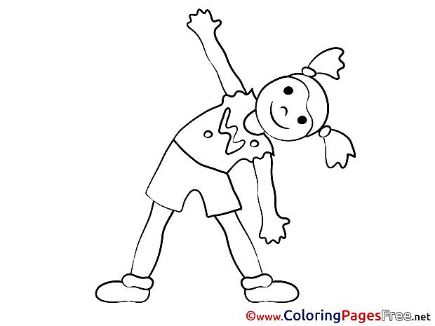 Gymnastics Kids free Coloring Page