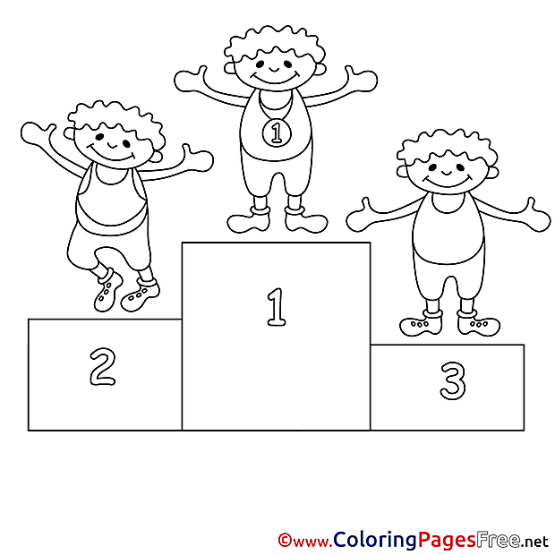 Kids free Coloring Page Competition Places