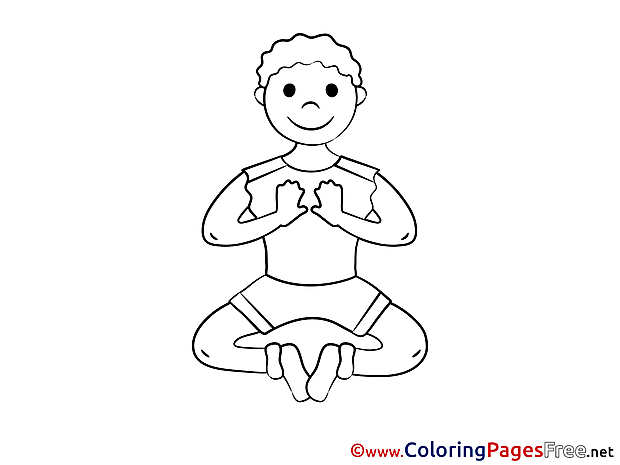 Meditation Kids download Coloring Pages